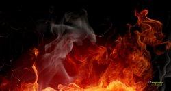 sfondo 3d fuoco fiamme