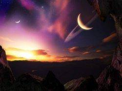 tramonto futuristico