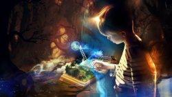 sfondo tridimensionale bambino con libro