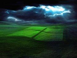 riflesso tra le nubi logo windows