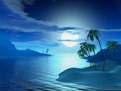 cielo 3d di color blu