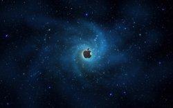 sfondo tridimensionale con simbolo apple
