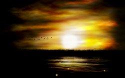 tramonto con cielo cupo
