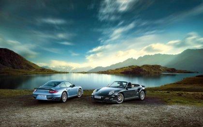 Due Porsche nel Lago Maggiore