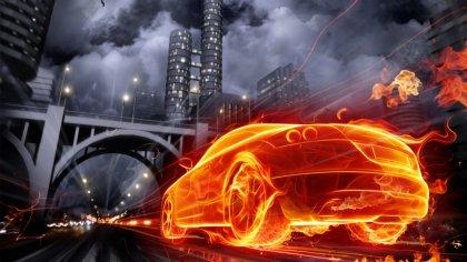 Immagine dell'auto realizzata con photoshop