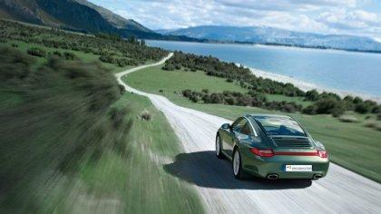 Porsche 911 prova su strada