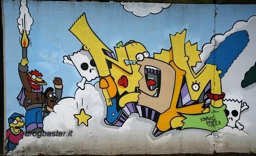 Graffiti Scritte Con Bombolette Spray Writing Graffiti Su