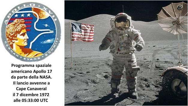 programma spaziale americano Apollo 17 da parte della NASA