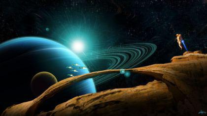 Navi Extraterrestri nella Galassia del pianeta Saturno