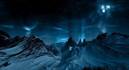 Aurora Pianeta panorama del paesaggio