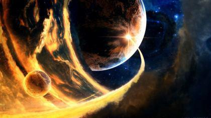 Cometa nello spazio