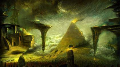 Sfondo Futurisco: elemento tempesta solare