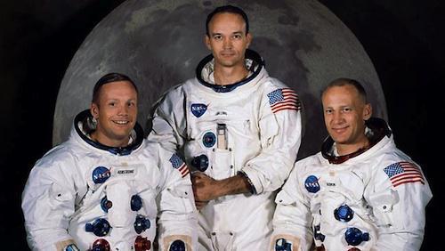 equipaggio Apollo 11: Neil Armstrong, Michael Collins e Edwin Aldrin
