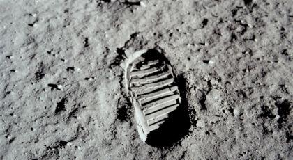 Impronta del Piede di un'astronauta sulla Luna