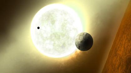 Sfondo con Sole, Luna e Marte