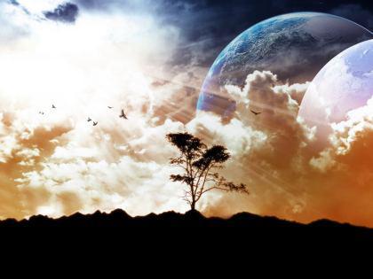 Panorama Fantascienza orbita dei Pianeti