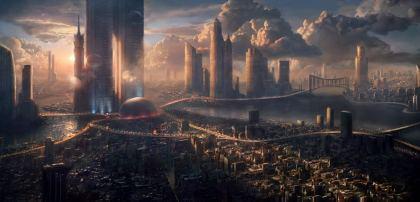 Paesaggio Alieno città del Pianeta X