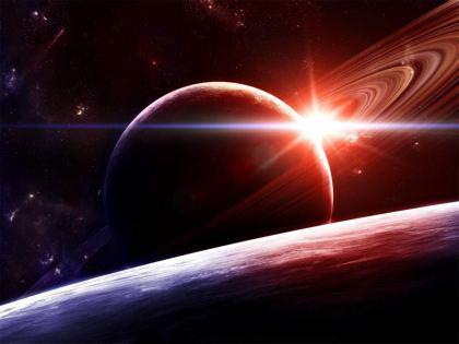Pianeta Saturno del sistema solare