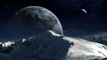 Pianeta Terra vista montagna