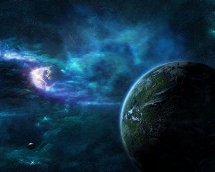 Pianeta visto dalla Galassia