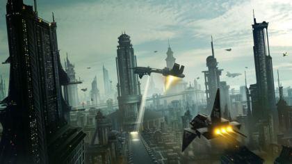 Sfondo futuristico invasione aliena