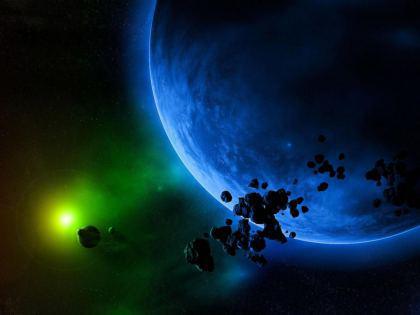 Asteroidi di fronte al Pianeta Terra