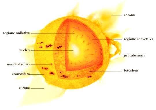 struttura interna del sole