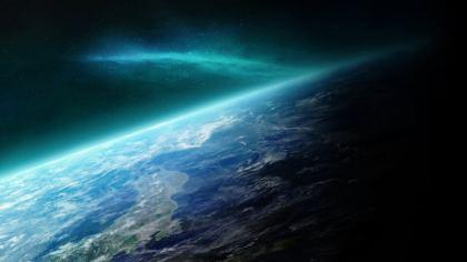 Panoramica dallo spazio: vista del Giappone
