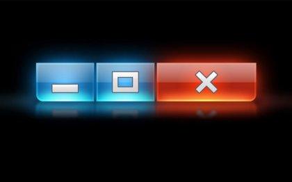 Sfondo: riduci icona, ridimensiona e chiudi