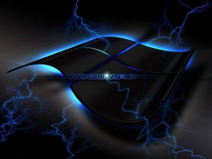 Sfondo di color nero con scritta color Blu