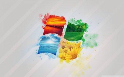 Logo Windows colorato con acquarelllo