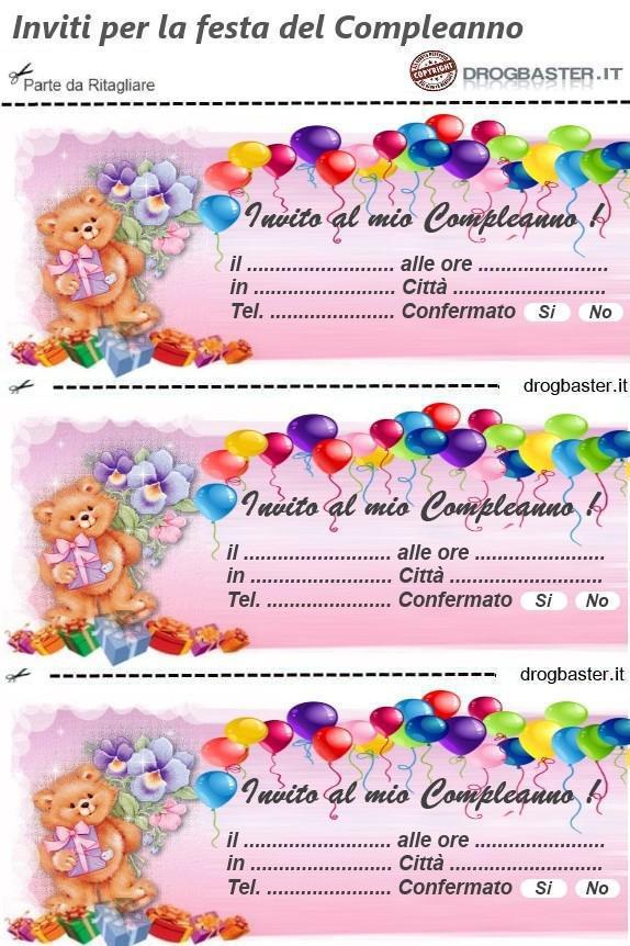 Matrimonio Auguri Biglietto : Scarica gratis gli inviti per la festa del compleanno