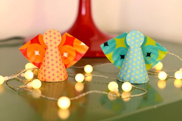 Lavoretti decorazioni addobbi natalizi fai da te for Angeli da ritagliare