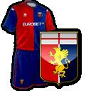 maglia e logo Genoa