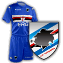 maglia e logo Sampdoria