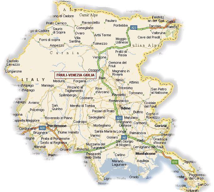 Cartina Friuli Venezia Giulia Fiumi.Regione Friuli Venezia Giulia Informazioni Turismo