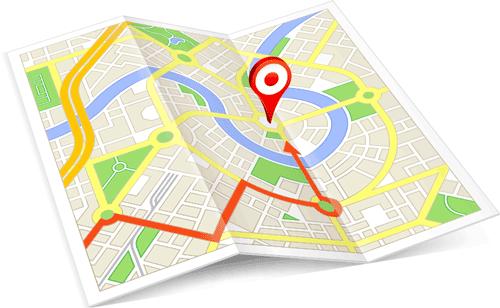 mappa localizzazione gps