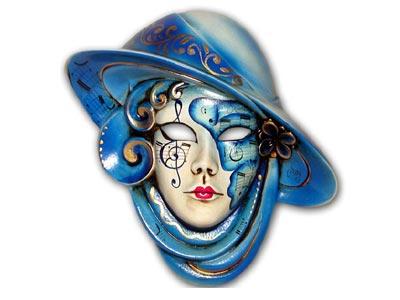 travestimento maschera con cappello