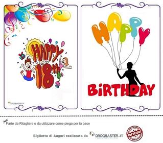 18 ANNI. Tantissimi auguri di buon compleanno!