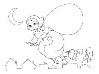 befana vola sulla città