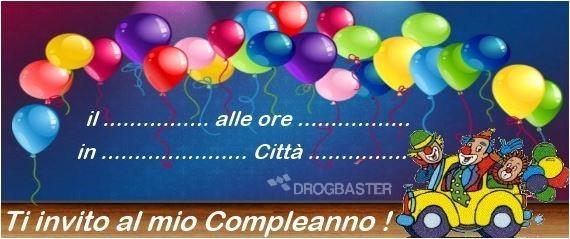 scarica gratis inviti festa compleanno