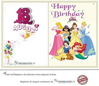 biglietto compleanno per donna 18 anni