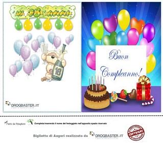 Auguri compleanno diciottesimo stampa gratis