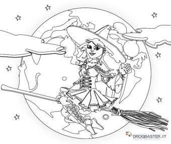 befana con sfondo lunare