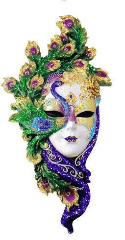 glitter animata maschera