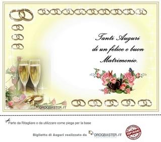 biglietto da stampare gratis in occasione matrimonio On auguri per il tuo matrimonio