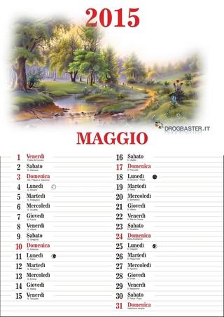 Calendario 2015 mese di Maggio