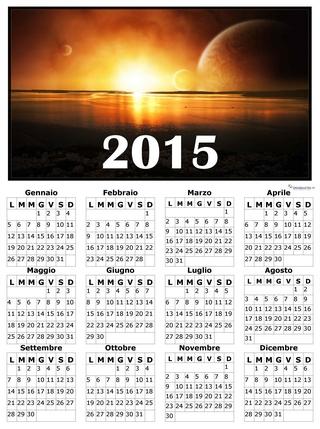 calendario elegante 2015