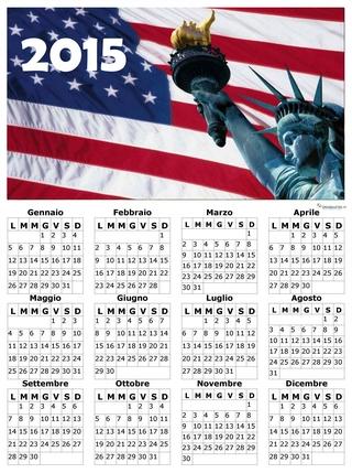 calendario del mese di gennaio 2015