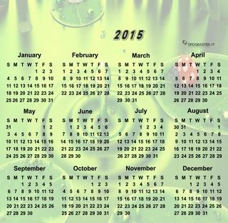 calendario 2015 con coccinella